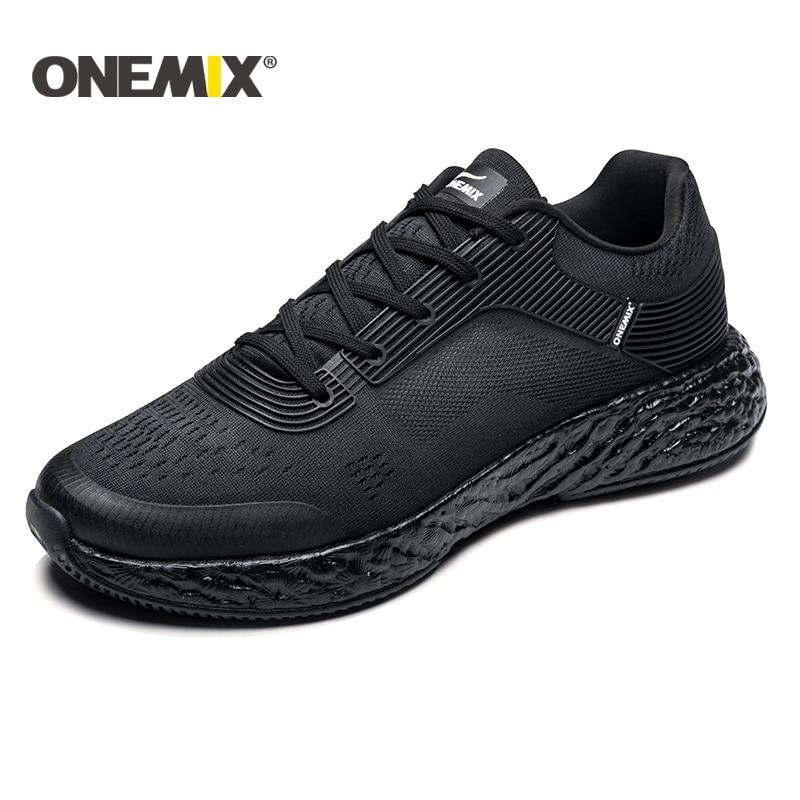 купить ONEMIX 2018 New Men Running Shoes Mesh Uppers Sneaker Outdoor Athletic Jogging for men Outdoor Jogging Shoes men plus size 39-47 по цене 4344.36 рублей
