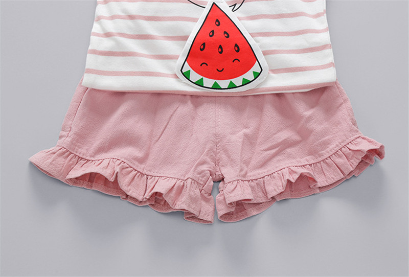 0-24M Girls Clothes Summer 2018 Brand Baby Girl Clothing Sets Kids Costume Outfit Baby Girls Suits Print Top+Short Pants