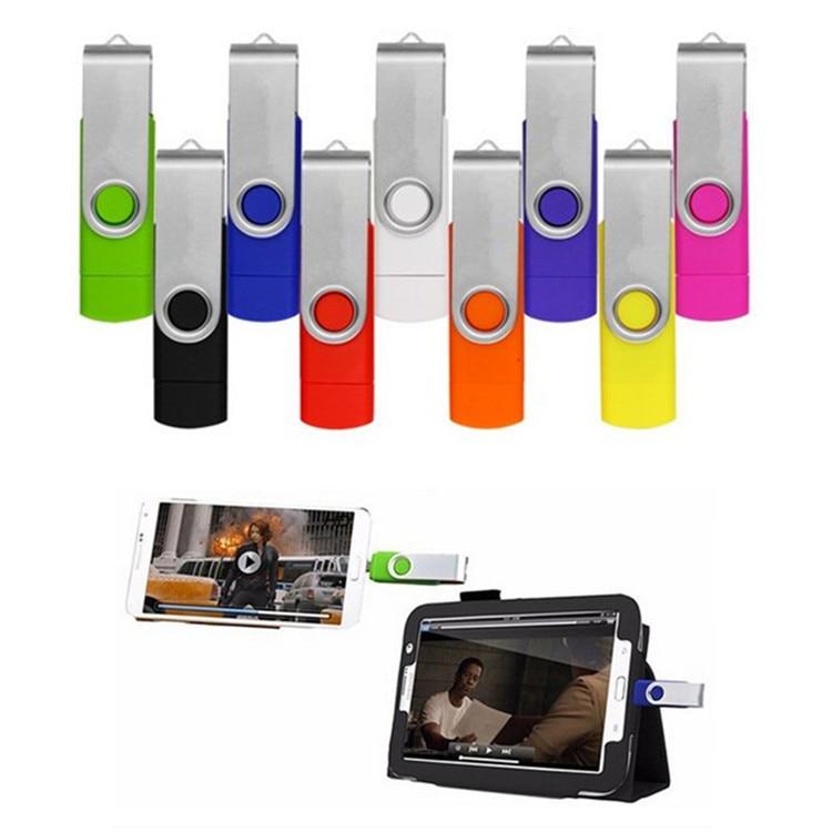 Colorful Dual Port Smart Phones OTG USB Flash Drive 64GB Pendrive 32GB Pen Driver Memory Stick Clef USB For Android Multitul USB