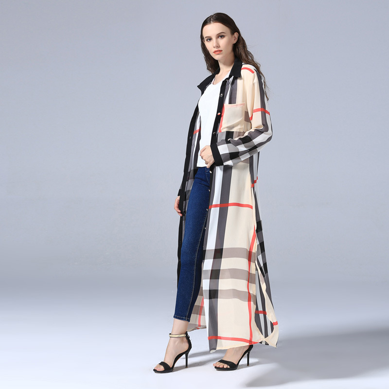 Plaid Cardigan Islamic Clothing Long Dress Muslim Dress Arab Women Fashion Robe Dress Abaya Ethnic Muslim Women Kaftan Dress (4)