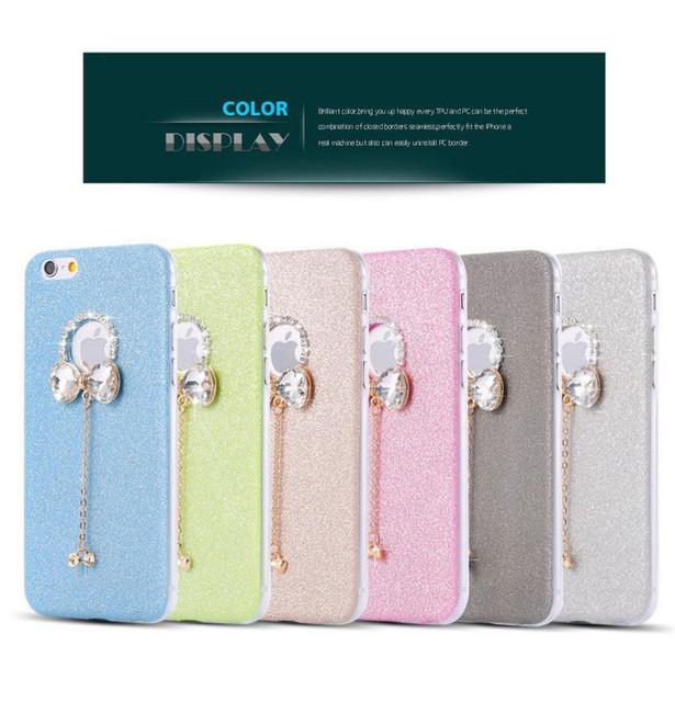 Casos Para iPhone 5 6 7 8 Plus Size Strass Cristal Ultra Fino Glitter Bling Capa Cristal Macio Telefone Covers Para Samsung Note8 S7 S8