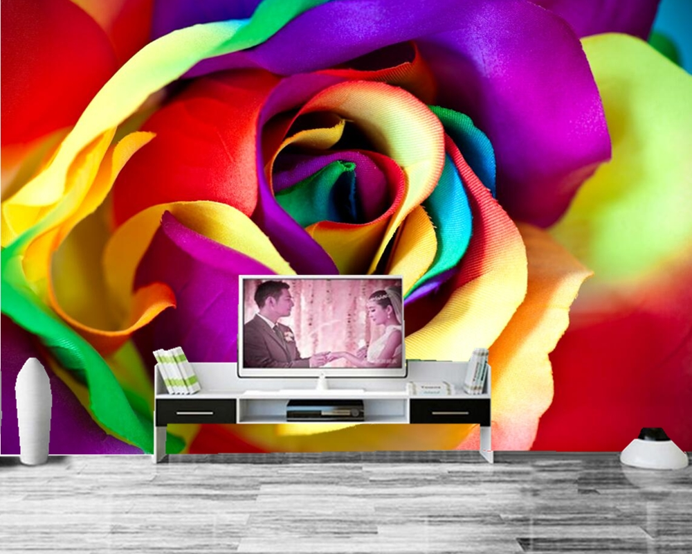 Papel de parede Roses Closeup  Flowers photo wallpaper,living room TV background sofa wall bedroom restaurant bar 3d mural spring abundant flowers rich large mural wallpaper living room bedroom wallpaper painting tv background wall 3d wallpaper