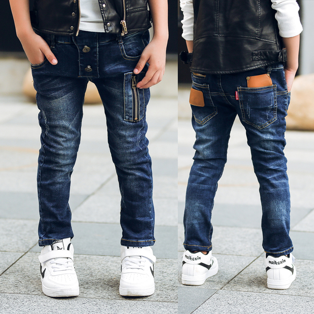 GB-Kcool boys jeans New Spring Autumn 2017 Children Denim  Pants Casual Regular Single Kids Jeans Baby Boy Trousers for 2-14 y