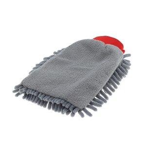 Image 3 - Auto Kit di Pulizia Spugna Pad Asciugamano In Microfibra Wash Mitt Glove Strumenti Pennello Auto Detailing