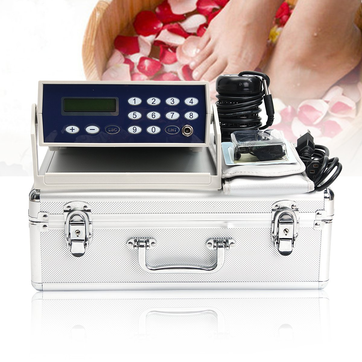 Detox foot care Machine Cell Ion Ionic Aqua Foot Bath SPA Cleanse Machine Fir Belt Box CAN foot bath massage pain relief machine electric antistress therapy rollers shiatsu kneading foot legs arms massager vibrator foot massage machine foot care device hot
