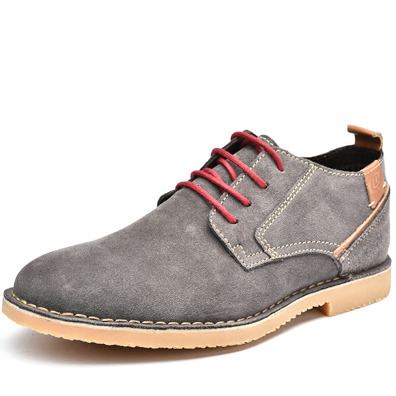 DR.SUTOR High Quality Genuine Leather shoes men casual shoes cow suede leather Lace Up Dress Shoes relikey brand men casual handmade shoes cow suede male oxfords spring high quality genuine leather flats classics dress shoes