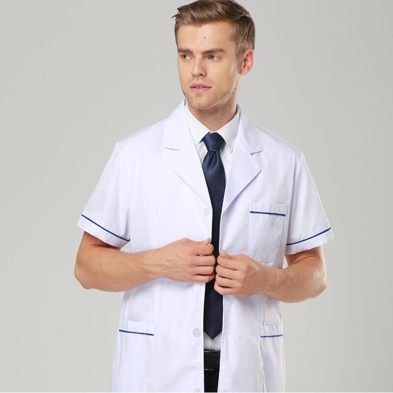 Liefdadig Witte Jas Lange Korte Mouwen Arts Overjas Lab Uniform Verpleegkundige Kleding Ziekenhuis Kliniek Apotheek Witte Overjas Werkkleding