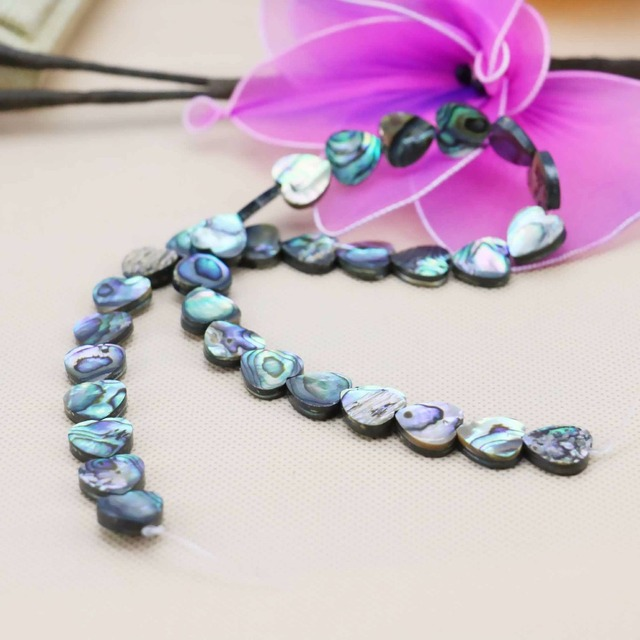 12mm Accessories Series Heart 16inch Natural Abalone seashells sea shells loose beads diy women girls gifts making Jewelry