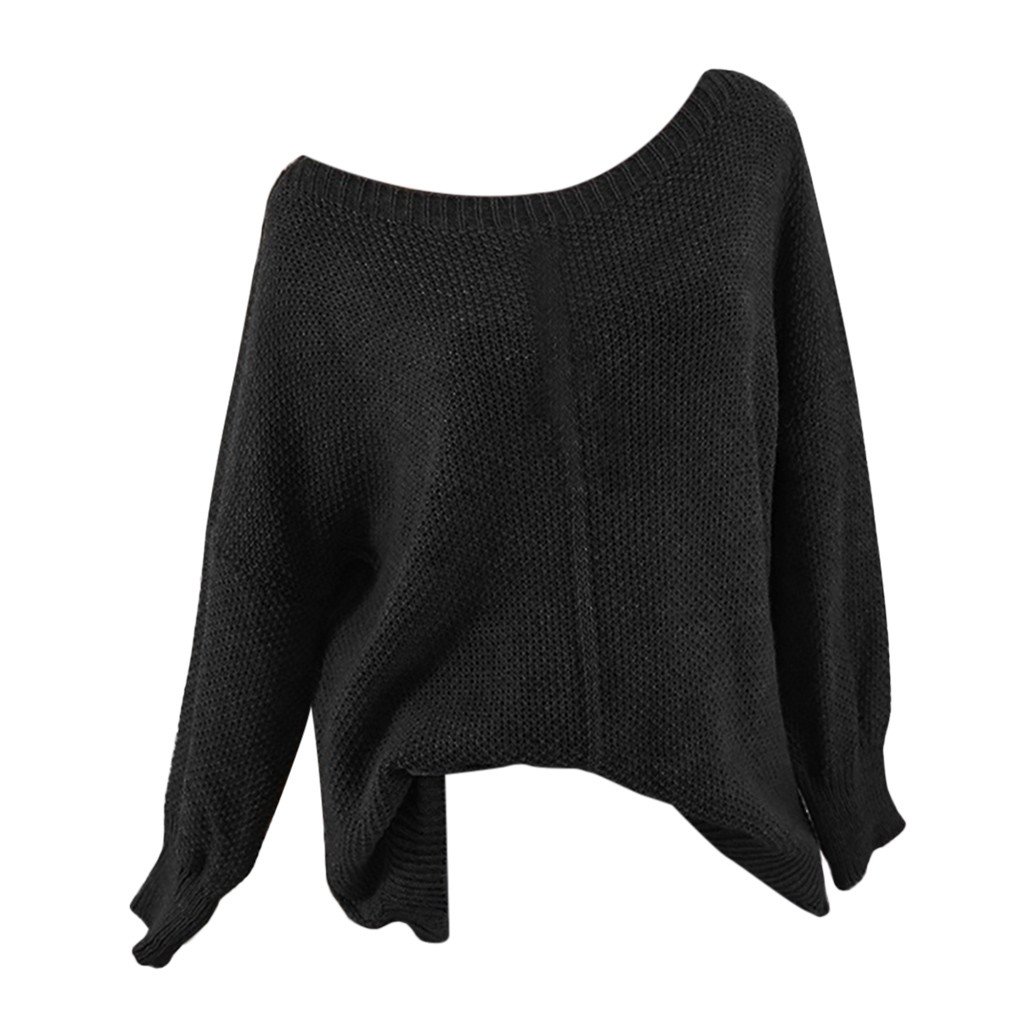 Autumn winter women sweater knitted deep o-neck long sleeve wrap front loose sweater jumper sweater for women pull femme