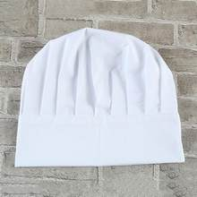 1 piezas Unisex adultos elástica blanca del sombrero del cocinero del  panadero barbacoa cocina que cocina gorra traje 617736848cc