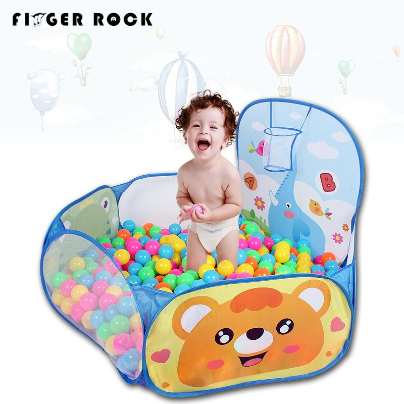 Foldable Fashion Childrens Toys Gaming Cartoon Ocean Ball Pool Pit Tent with Basket Outdoor Playhouse Set Toy for Kids Baby