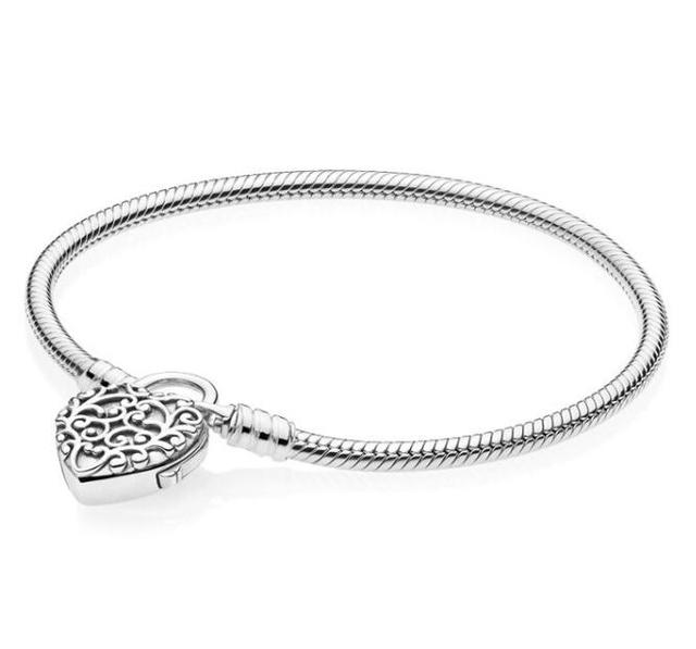 086c3c96b Newest 925 Sterling Silver Original Limited Edition Flourishing Heart  Padlock Pan Bangle & Bracelet Charm Jewelry