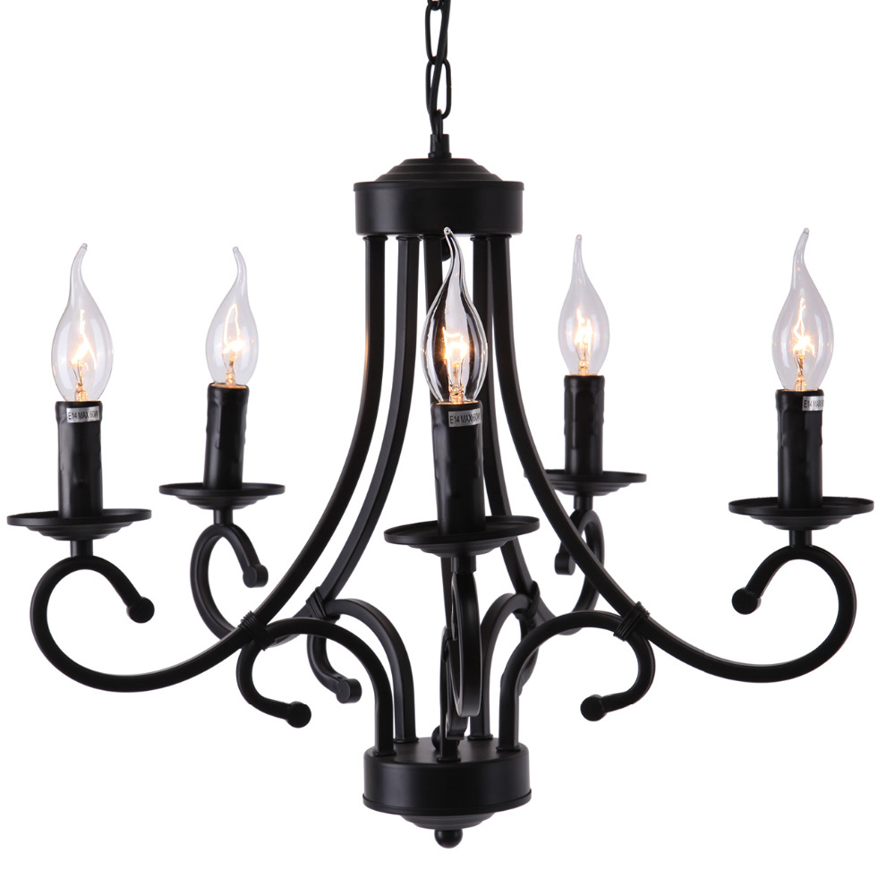 5 arm Retro chandelier light ceiling lamp light Personality Bar Style pendant light