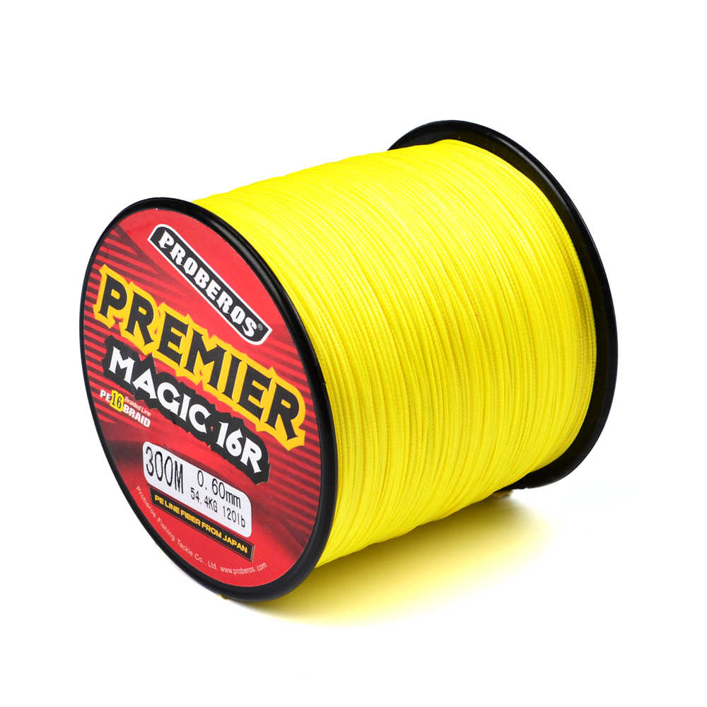 100M 300M PRO BEROS PE Fishing Line 16 Stands 16 Weaves Japan Braided Wire Available 40LB-300LB PE Line Tackle Red Package