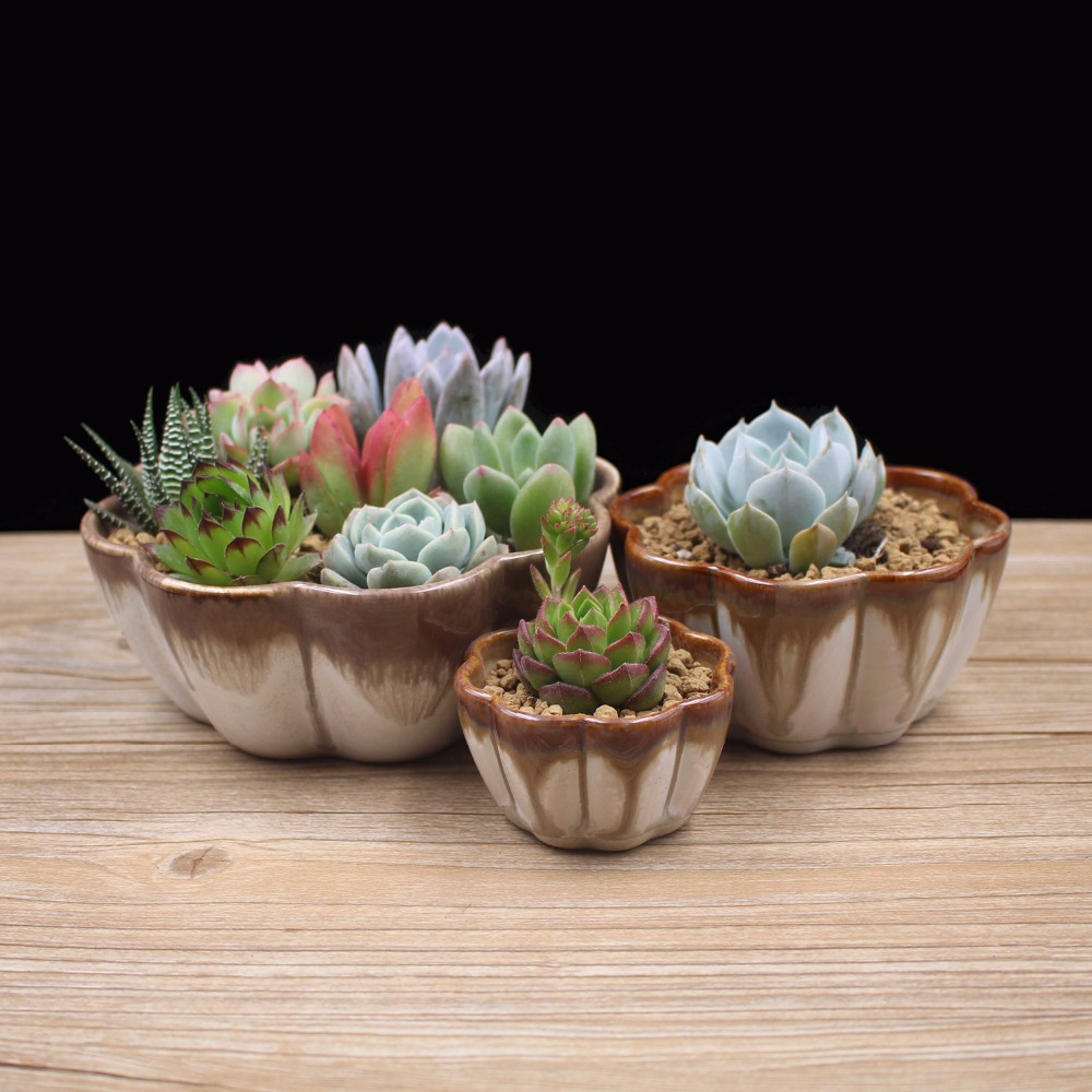 On sale small fambe ceramic flowerpot colorful porcelain for How to make beautiful flower pots at home