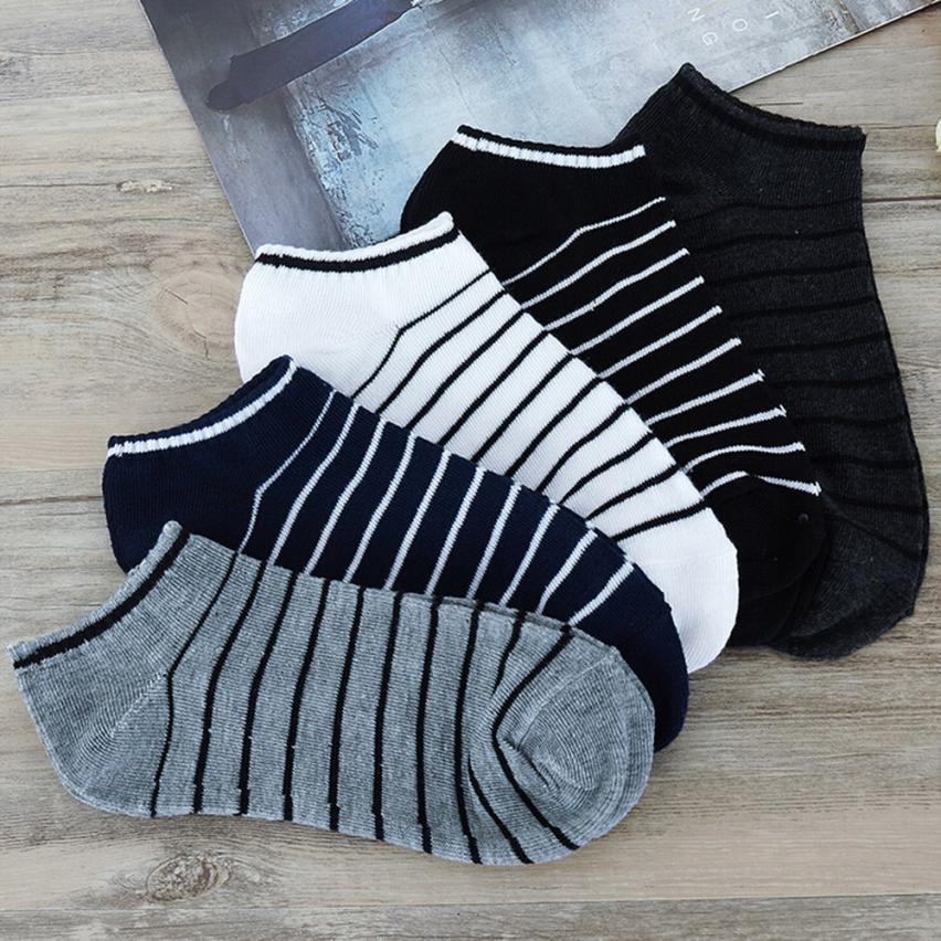 MUQGEW Hot Sale Comfortable 1Pair Unisex Comfortable Stripe Cotton Sock Slippers Short Ankle Socks New Arrival Breathable Soxs ...
