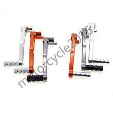 FXCNC Мотоцикл ЧПУ Подножка и Педали Для KTM DUKE 125 200 390 2013-2014 2013 2014 T6061 Алюминия Пара Orange/Gray/Orange