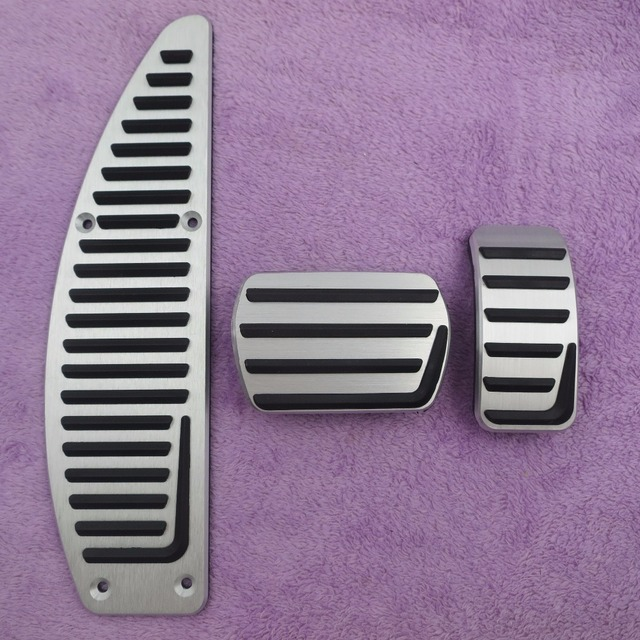 Car Accessories Aluminium Alloy Accelerator gas brake pedal for Volvo S40 V40 C30 AT,non slip pedal plate pads covers styling