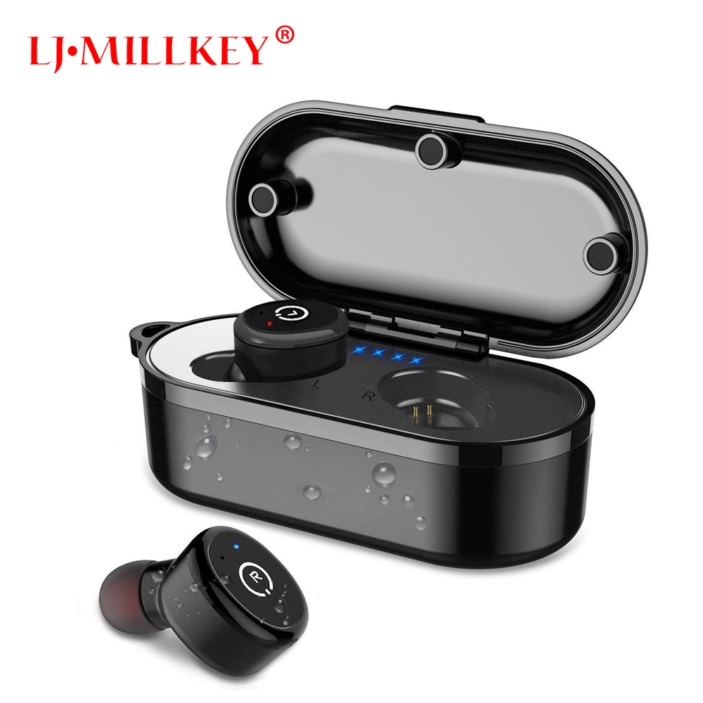 Touch Control TWS True 5.0 Bluetooth Earphone Earbuds Earpiece Mini Twins Stereo Microphone Wireless Earbuds for All Smart Phone цена