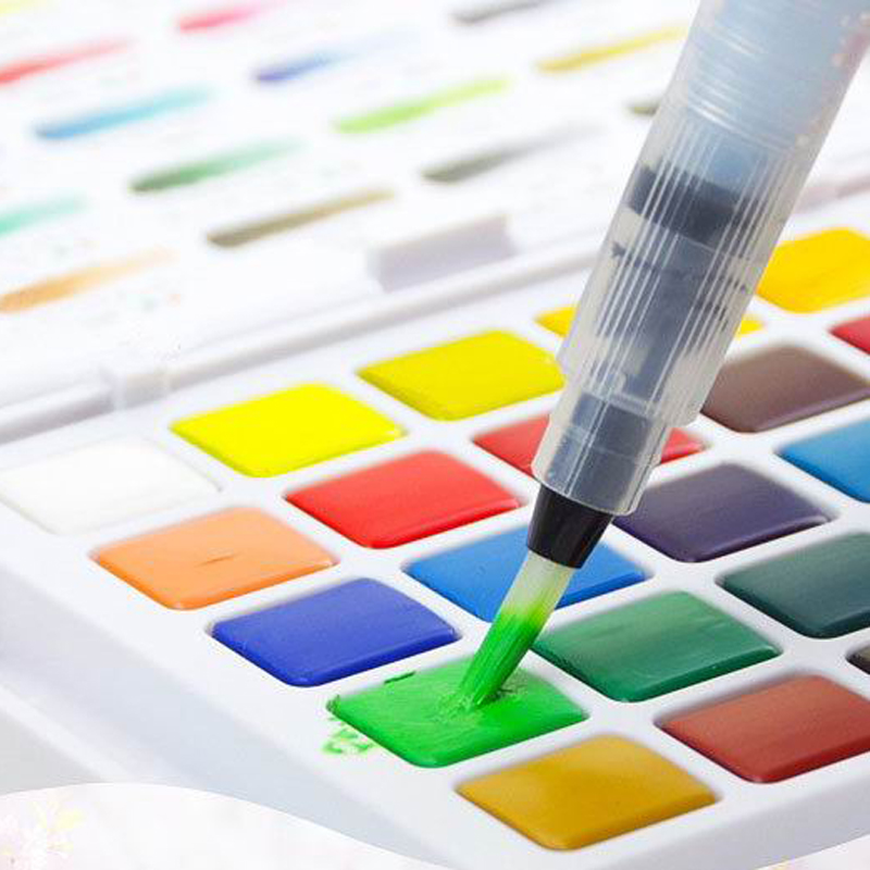 3PC Lot Pigment Carry Art Painting Supplies Transparent Water Color Brush Pens