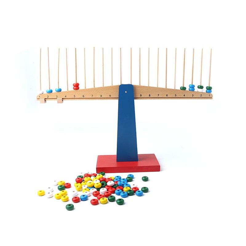 En bois Montessori Jouets Infantile Montessori Matériaux Scales Apprentissage Éducatif Jouets pour Les Tout-petits Juguetes Brinquedos MH0866H