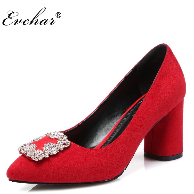 Pointed Toe High Heels Women Rhinestone Wedding Dress Shoes Pumps slip-on Crystal  elegant sexy shoes red black big size 32-43 l aver laver