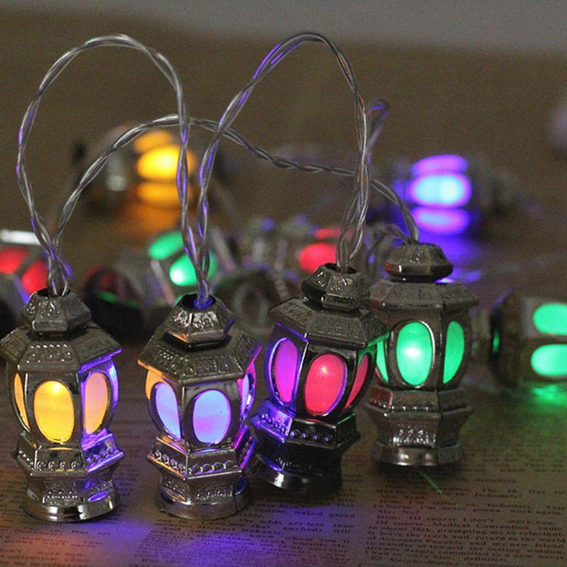 1.65m 10 Lights Stereo Palace Lamp LED Eid Mubarak Decorative String Lights Ramadan Kareem Decoration Accessories Muslim Islam