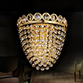 crystal wall lamp for bedroom bedside brief gold wall sconce light fixtures foyer Decoration mirror Lighting 79055