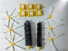 6 Hepa фильтр + 1 компл. щетка для волос комплект + 6 боковая щетка для iRobot Roomba 700 серии 770 780 790 пылесос аксессуары