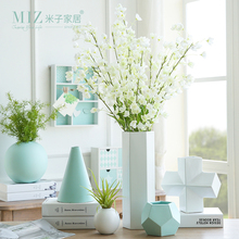 miz 1 piece modern vases geometric plant pot home decoration vases for flowers ceramic pot desktop