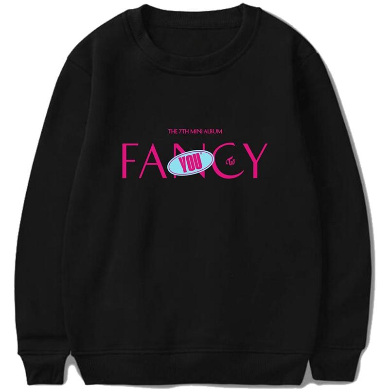 Twice Fancy You The 7th Mini Album  Print Hooded Sweatshirtpopular Clothes Hot Sale Women/men Hoodies Sweatshirt Kpop K-pop New