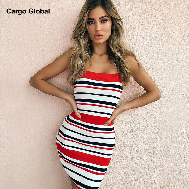 Women Dresses Series Striped Fitness Elegant Sexy Bodycon Slim Midi Vestidos candy Color striped Knitted Sweater Dress