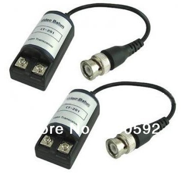Freeshipping high quality passive Video Balun Transceivers UTP Video Balun Cat5 CCTV Video Balun 201C