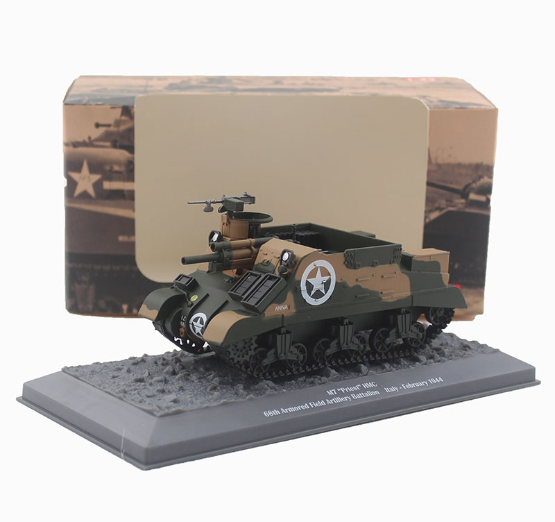 цена на 1/43 M7 clergy self propelled artillery World War II alloy tank model Collection model