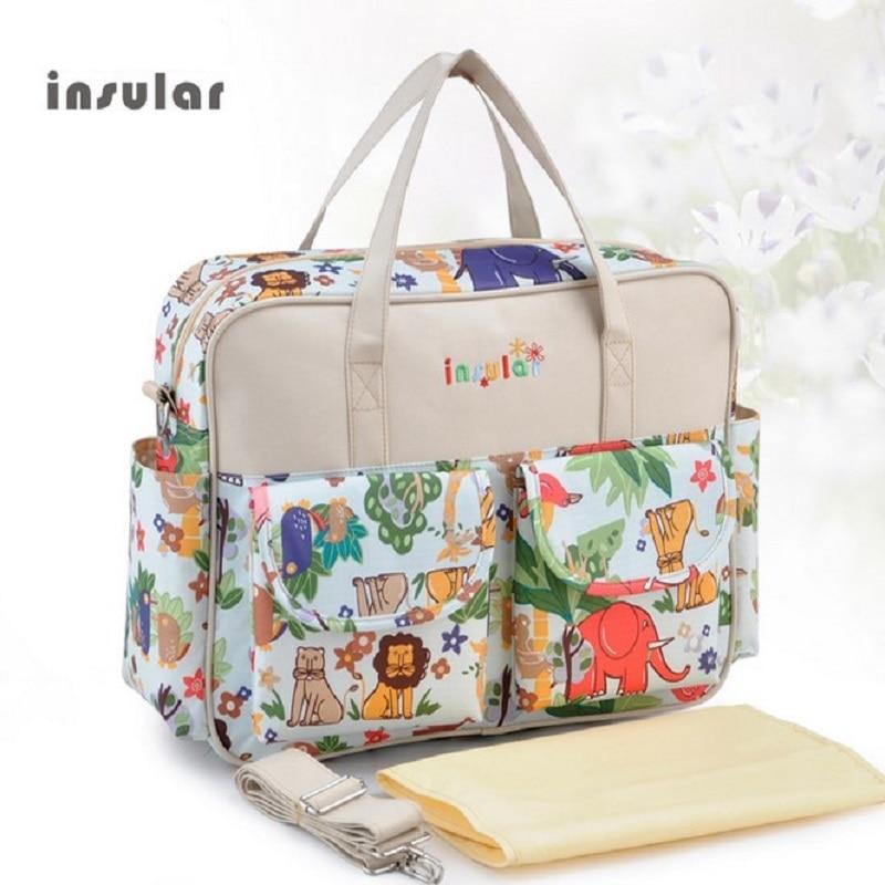 Insular MultiColor pelenka táska 2019 váll kézitáska kiváló minőségű anyasági babakocsi múmia táska multifunkcionális baba táska