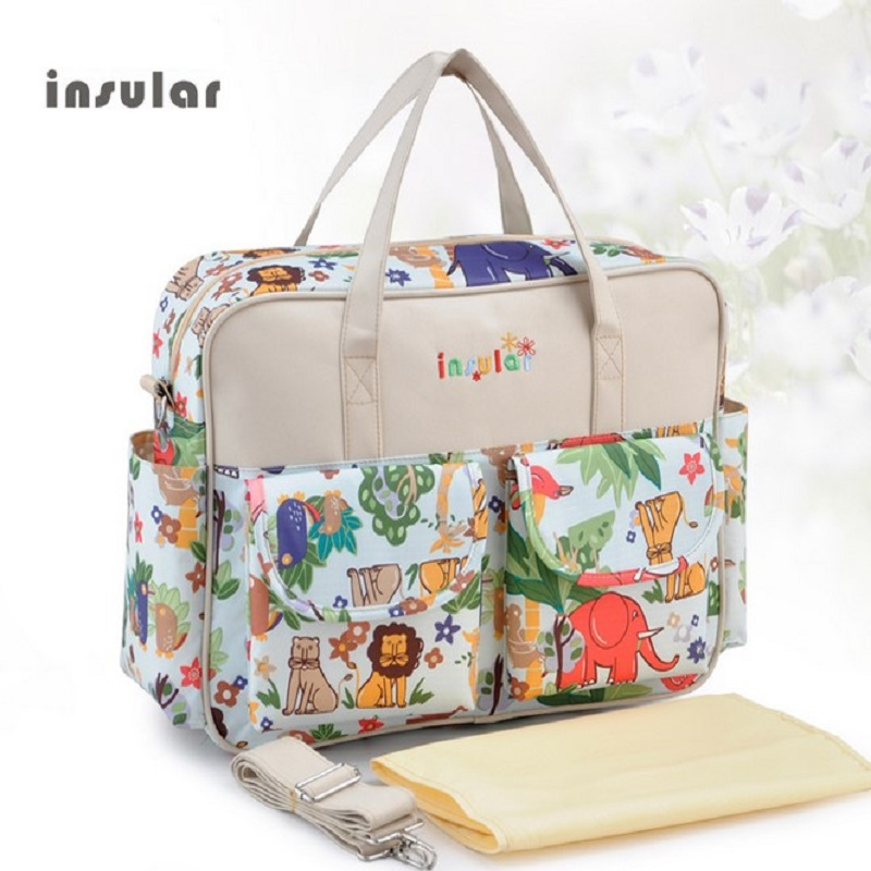 Insular MultiColor diaper bag 2018 shoulder handbag high quality maternity mother stroller mummy bag multifunctional baby bag ...