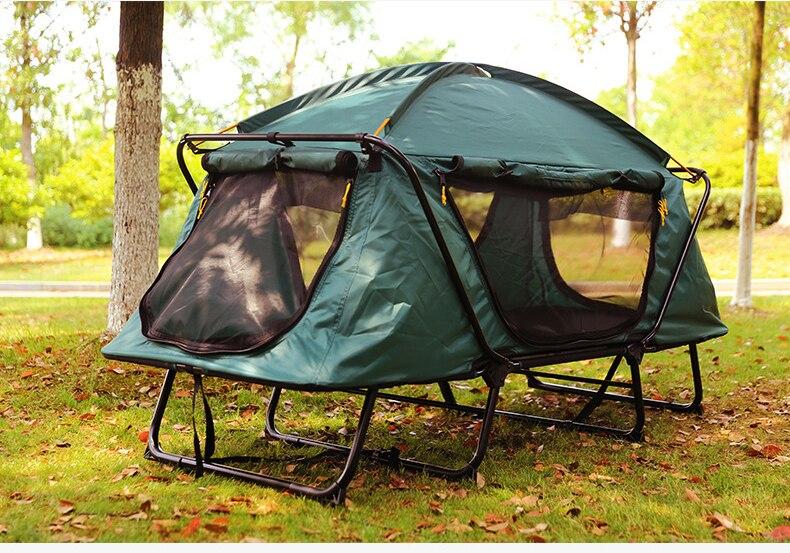 Offre spéciale tente intelligente automatique hors sol tente hors sol imperméable à l'eau en plein air pliant Camping lit tente, CZ-830B Camping lit tente