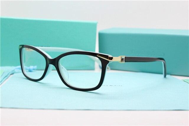 Fahion Women Eyeglasses Optical Frame Myopia Glasses Acetate Eyewear Frames With Clear Lens Oculos de grau gafas 2017 Brand 2060