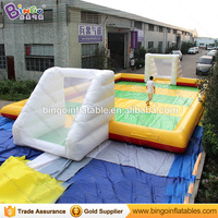 Outdoor inflatable football field/inflatable football court/Inflatable Soccer Field For children/kids/adults Toy Sports