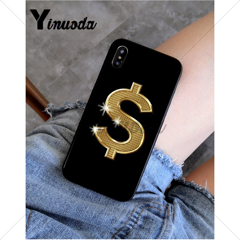 Yinuoda Currency money logo Soft Silicone TPU Phone Cover for Apple iPhone 8 7 6 6S Plus X XS MAX 5 5S SE XR Mobile Cover