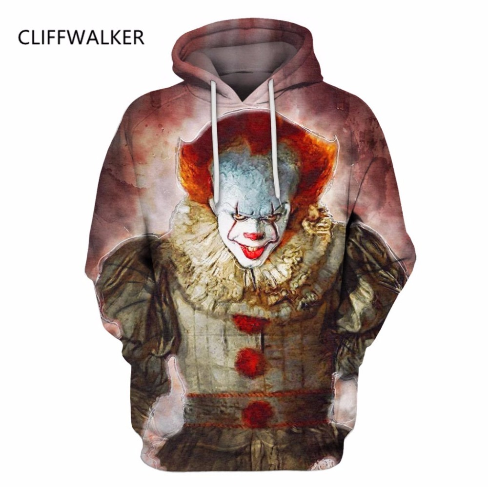 Dropshipping Hot Sale Stephen King Character Hoodies Sweatshirts For Men Women 3D Pullover Tracksuits Hooded Casual US Size