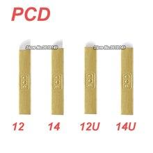 500 قطعة PCD Microblading Lamina 12 12U 14 14U ل تجميل دائم الحاجب الصلب الوشم شفرات دليل قلم الوشم ثلاثية الأبعاد التطريز