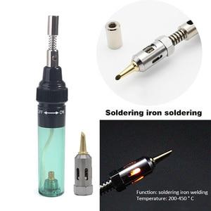 Image 3 - Urijk 1300 Celsius Butane Gas Welding Soldering Irons Welding Pen Burner Blow Torch Gas Soldering Iron Cordless Butane Tip Tool