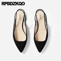 Замшевые Дышащий черный без шнуровки обувь на плоской подошве из натуральной кожи китайский slingback дизайнерские Роскошные женские туфли 2018