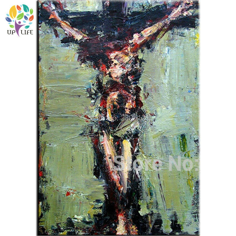 hand painted wall painting Crucifixion of Jesus oil painting Easter Day Jesus canvas art abstract religion decor prayer pray p