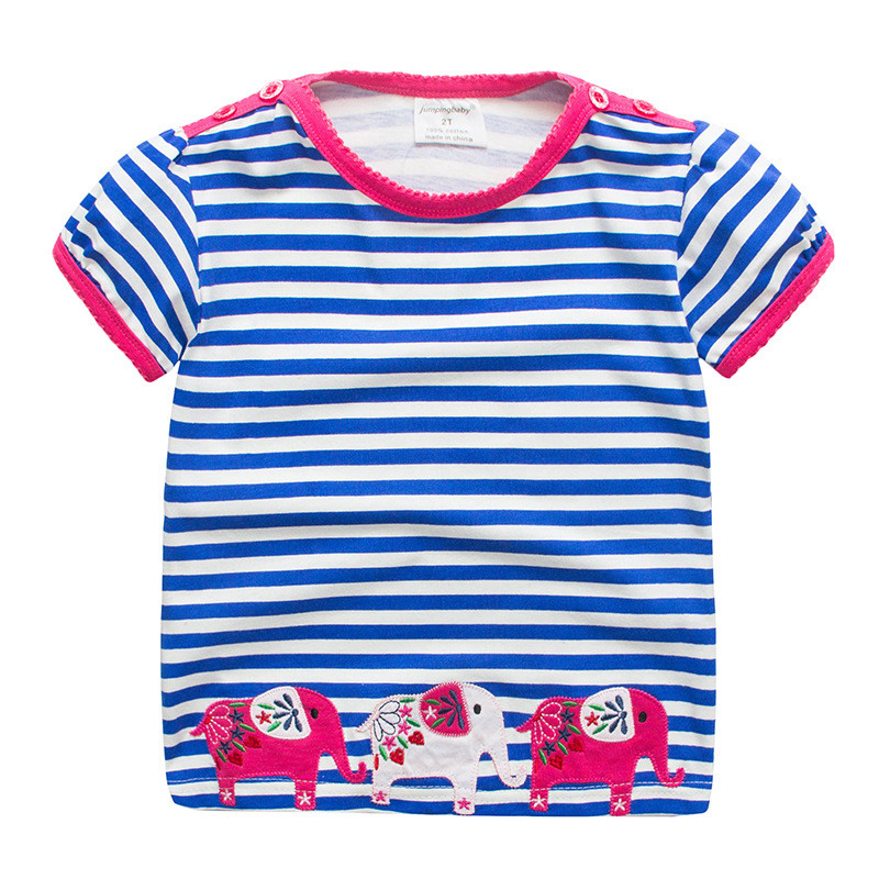 2019 Merginos marškinėliai Vaikiški drabužiai Dinosaus Camiseta marškinėliai Vasaros viršūnės Kūdikių mergaičių kostiumų rinkinys Enfant Fille marškinėliai Koszulka