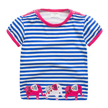 2019 Girls T shirt Kids Clothes Dinosaus Camiseta Tshirt Summer Tops Baby Girl Costume Vetement Enfant Fille T-shirts Koszulka
