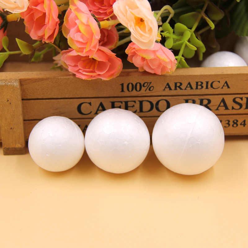 50 Pcs/lot 30/35 Mm Putih Bahan Busa, Busa Styrofoam Bola untuk Anak-anak Hadiah Natal Pesta Dekorasi Kerajinan perlengkapan