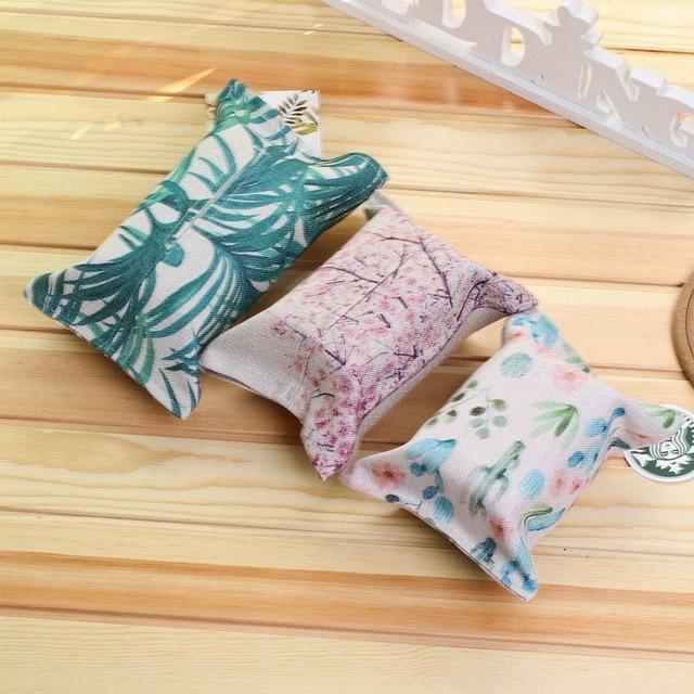 HAICAR New Handmade Tecido de Algodão e Linho Toalha de Papel caixa Do Tecido Carro Caixa do Tecido Carro Caixa de Papel Higiênico Definir a decoração home # T770