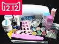 EM-77 Professional Full Set UV Gel Kit Nail Art Set + 9W Curing UV Lamp Dryer Curining  FREE SHIPPING